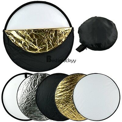 58cm 5 in 1 Portable Photography Studio Multi Photo Collapsible Light Reflector