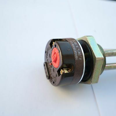 """HOT WATER TANK HEATING ELEMENT 4000W HEATER 4kW 1 1/4"""" BSP WITH ROD THERMOSTAT"""