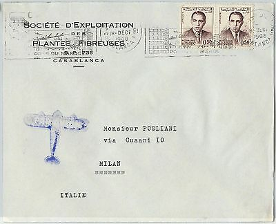 59289 -    MOROCCO - POSTAL HISTORY: COVER to ITALY - 1968