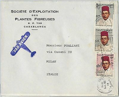 59301 -    MOROCCO - POSTAL HISTORY: COVER to ITALY - 1970
