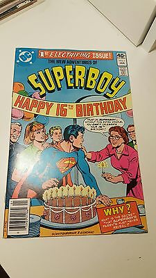 The New Adventures Of Superboy #1.   (Vf-)     ~Giordano Art~   1St Print.  1980