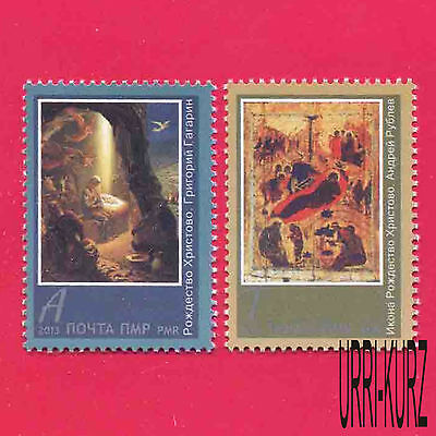 TRANSNISTRIA 2014 Religion Holidays Christmas Art Paintings Icons 2v MNH