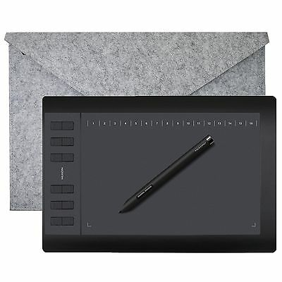 """Huion 10""""x6.2"""" Digital USB Graphic Drawing Tablet/Board 1060 pro+ For Art Design"""