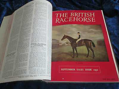 The British Racehorse Magazine 1952 Complete Bound Year for 1952