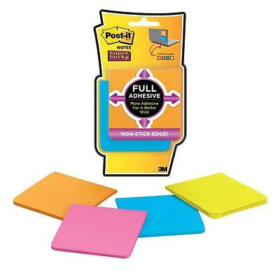 Post-it Super Sticky 76mm x 76mm Full Adhesive Notes Pad - Assorted Colours Pack