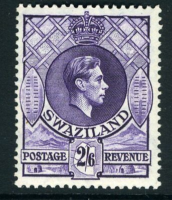 SWAZILAND-1943 2/6 Violet Perf 13½ x 14 Sg 36a UNMOUNTED MINT V13576