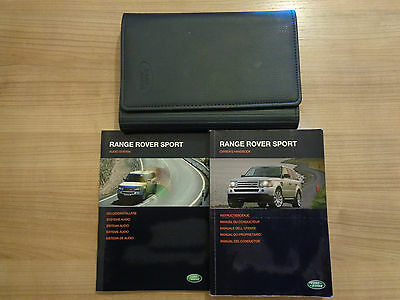 Range Rover Sport Owners Handbook/Manual and Wallet 05-09