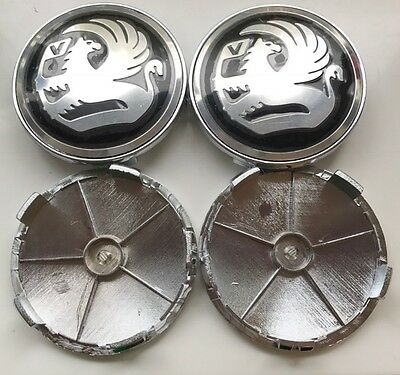 4x BLACK NEW STYLE Fits VAUXHALL 68mm ALLOY WHEEL CENTRE CAPS