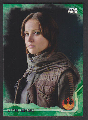 Topps Star Wars - Rogue One Series 1 - # 1 Jyn Erso - Green Squad Parallel