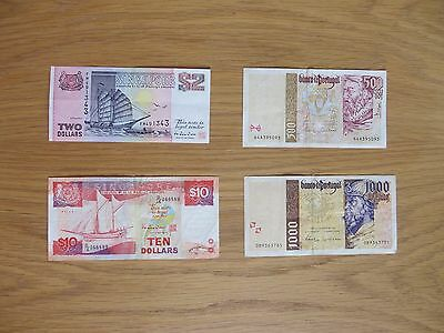 Lot of 4 World Banknotes.