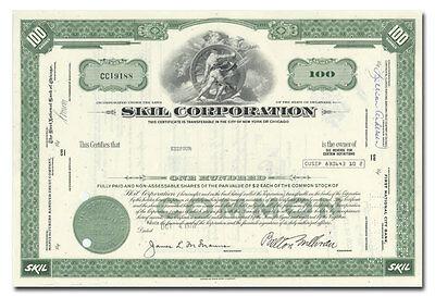 Skil Corporation Stock Certificate (Power Tools)