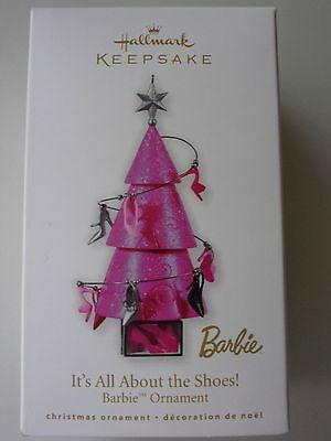 Hallmark It's All About the Shoes Barbie Ornament dated 2010 NIB