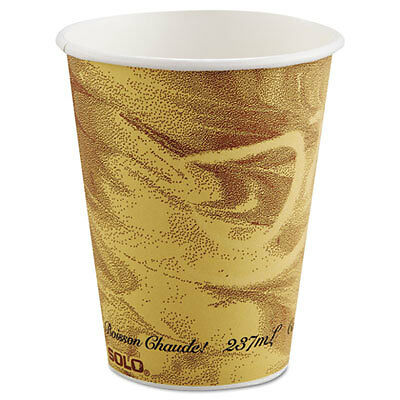 Mistique Polycoated Hot Paper Cup, 8 oz, Printed, Brown 378MS