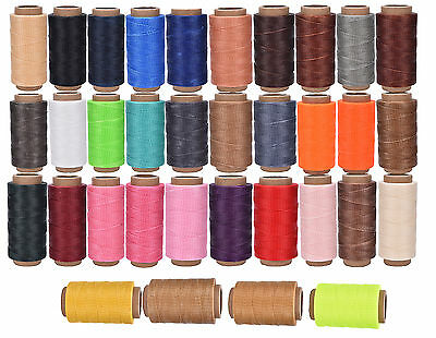 260M x1mm Thick (210D) Leather Sewing Waxed Coarse Thread Spool Polyester Fines