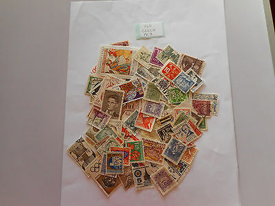 100 used postage stamps CZECHOSLOVAKIA pk 2 no doubles