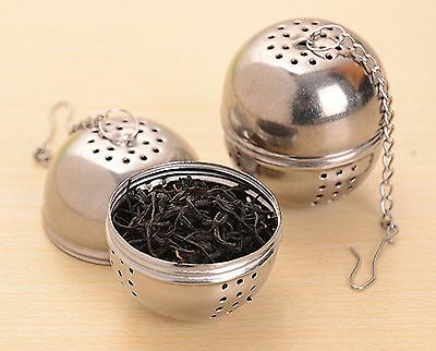 Fashion Kichen Tea Strainer Stainless Steel Tea Ball Sphere Locking Spice Mes...