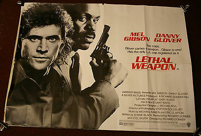 LETHAL WEAPON 1987 Mel Gibson UK quad original cinema poster
