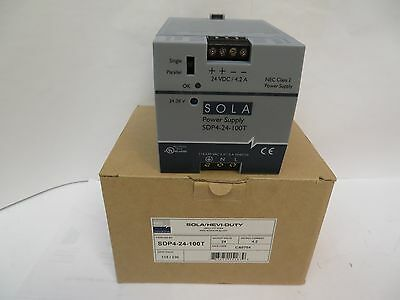 NEW SOLA POWER SUPPLY SDP4-24-100T 24Vdc/4.2A A AMP SDP424100T