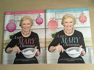 New Mail on Sunday 2 x Mary Berry Pullouts A Very Mary Christmas Recipes