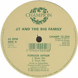 Jt And The Big Family - Foreign Affair - Champion - 1990 #10012