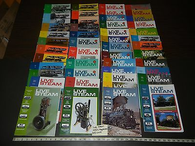 Live Steam Model Railroad & Trains Magazine Lot Of 47 total 1970's
