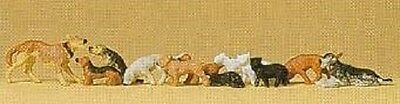 PREISER 14165 1:87 HO SCALE Dogs And Cats