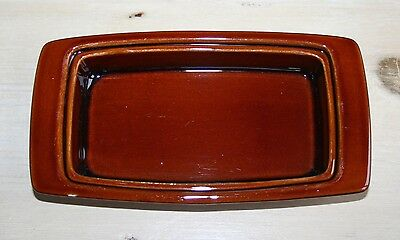 Poole Pottery Chestnut Butter Dish Without Lid