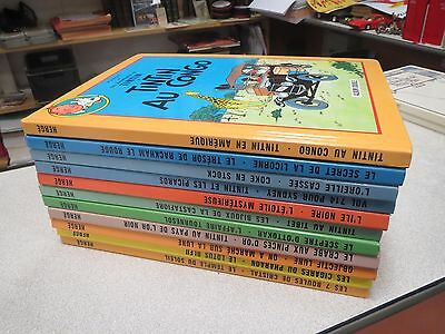 Collection Lot De 11 Albums Tintin Double Soit 22 Histoires France Loisirs Tbe *