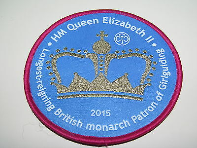 Girl Guide - Longest Reigning Monarch badge - NEW
