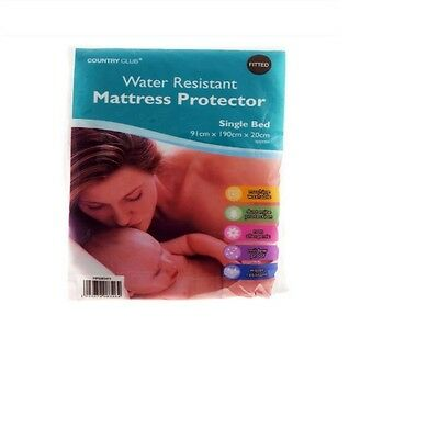 Matress Water Resistant Fully Fitted Single Mattress Protector New Gift