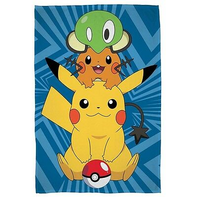 Pokemon 'Catch' Panel Fleece Blanket Throw Brand New Gift
