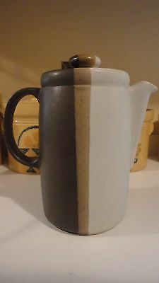 """Coffee Pot & Lid Nelson McCoy SANDSTONE Brown Tan 8"""" Discontinued"""