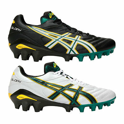 Asics Lethal Glory SA Rugby Boots - Black/Green - UK 7