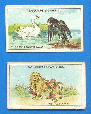 Fables And Their Morals 4 & 6.2 Cigarette Cards Issued By Gallaher In 1922