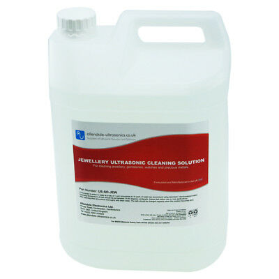 Ultrasonic Cleaning Fluid Restore Jewellery Precious Metals 5L Concentrate - UK