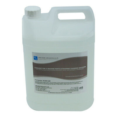Carburettor Machine Engine Parts Ultrasonic Cleaner Fluid 5L Produced in the UK