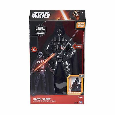 Star Wars Darth Vader Deluxe Animatronic Interactive Figurine 50cm neuve disney