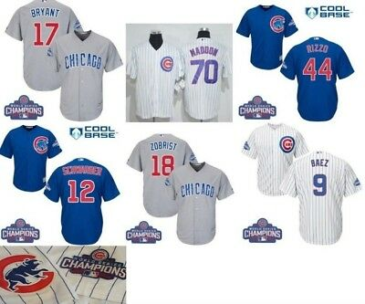 ffed3e239 Chicago Cubs Jersey Cool Base Men s with 2016 World Series Champ   Cubs  patch
