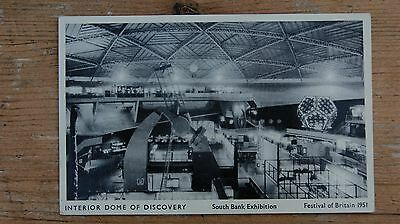 Interior Dome of Discovery Fetival of Britain 1951 Postcard