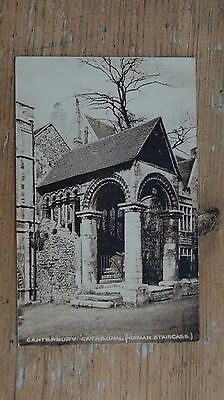 Canterbury Cathedral Norman Staircase vintage postcard