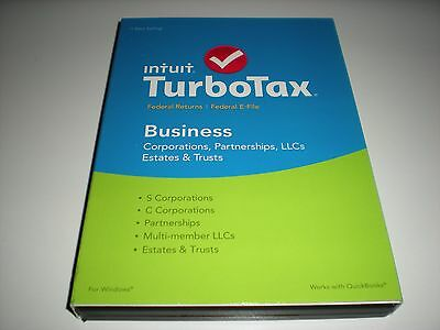 Turbotax 2015 Business for Corporations. New sealed box. Previous year version.