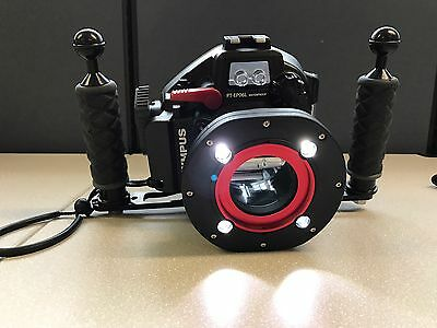 Olympus underwater housing, Camera, Additional Lenses and Strobe Light Package