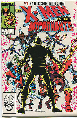 X-Men and The Micronauts #1-4 Full Set Complete NM Marvel Comics 1984 CBX1CC