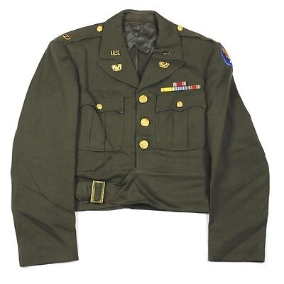 Original Usaaf / Us Army Air Forces Warrant Officer Dress Ike Jacket Aac Wo