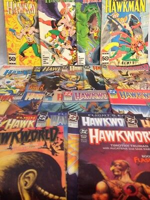 Vintage DC Comics Hawkman And Hawkworld Lot Of 21 Comics, Fine Plus