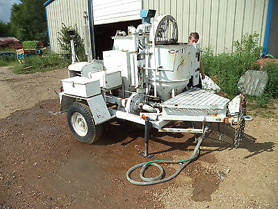Airplaco Grout Plaster Mortar Stucco Mixing & Pump Trailer 35hp Wisconsin Engine