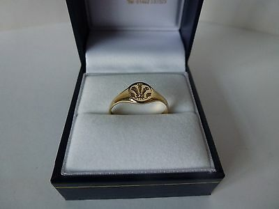 NEW Ladies, 9ct Yellow Gold Prince Of Wales Signet Ring, size Q