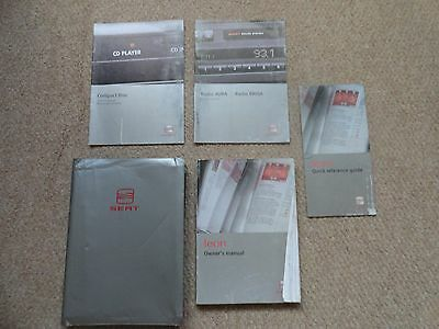 Seat Leon Owners Manual, Audio Manual, Wallet & other related documents