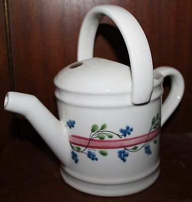 Vintage Porcelain Watering Can Made for The Broadway Company in Italy