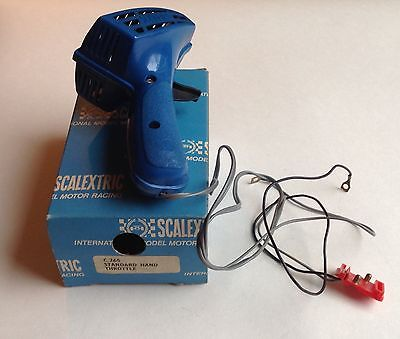 SCALEXTRIC - vintage - C.265 POWER CONTROLLER, HAND THROTTLE Blue - BOXED